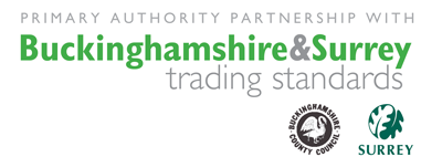 primary authority partnership with buckinghamshire & surrey trading standards logo